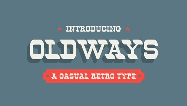 Oldways Retro Font