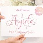 Asyiela Script Font