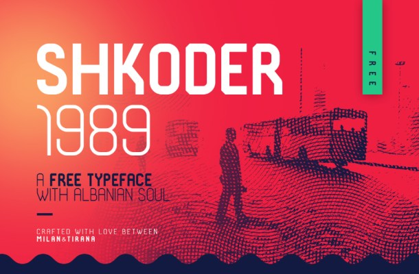 Shkoder 1989 Display Typeface