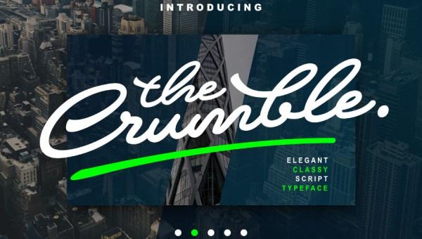 Crumble Script Free Font