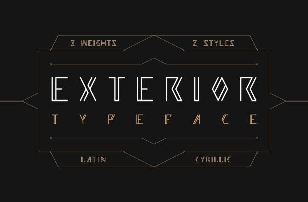 EXTERIOR Typeface
