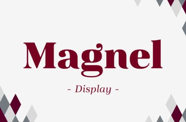 Magnel Display Font