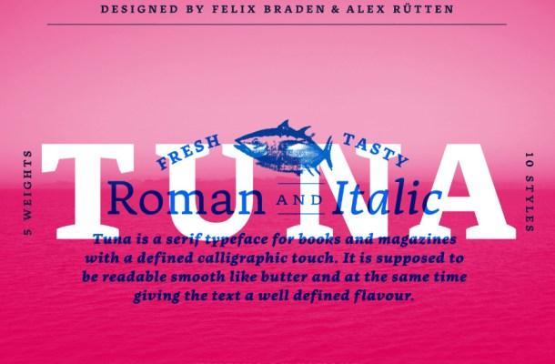 Tuna Typeface Free Font