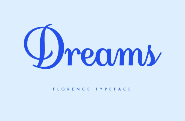 Florence Script Free Font
