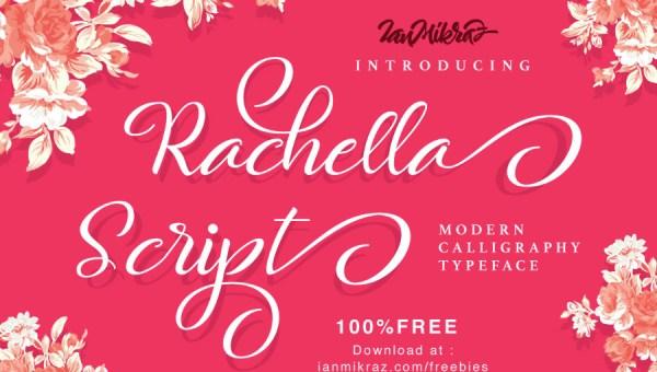 Rachella Script Font