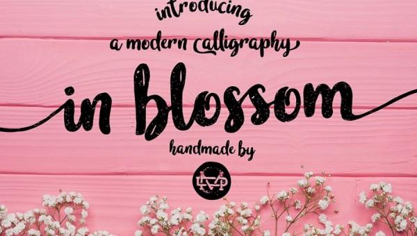 In Blossom Script Free Font