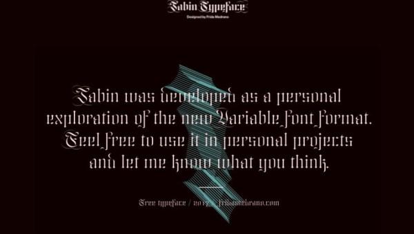 Jabin Gothic Font