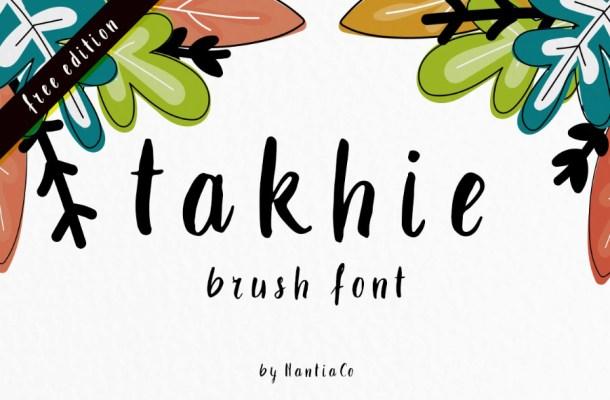 Takhie Brush Free Font