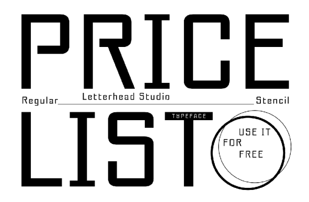 Pricelist Display Font
