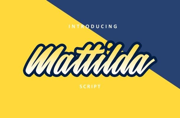 Mattilda Script Free Font