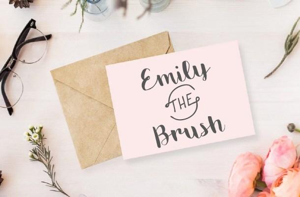 Emily Brush Free Font