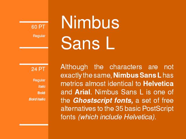 nimbus sans l regular font free download