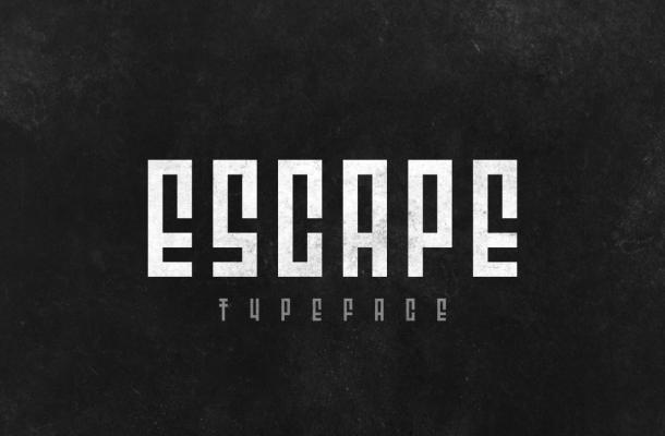 Escape Display Font