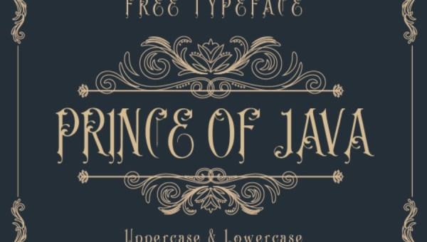Prince of Java Font