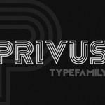 Privus Display Font