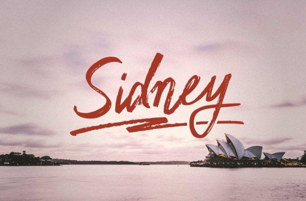 Sidney Handwriting Free Font