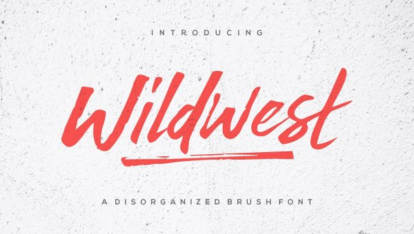 Wildwest Brush Font