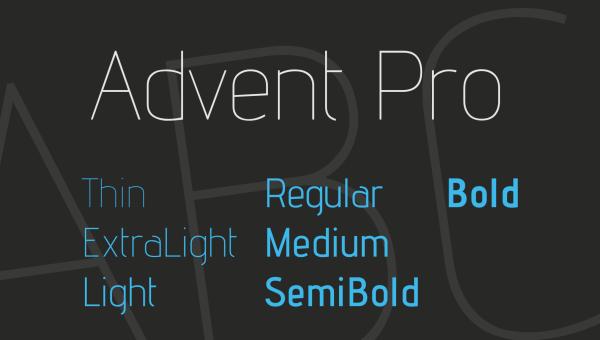 Advent Pro Font Family