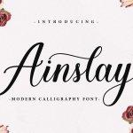 Ainslay Script Font Family