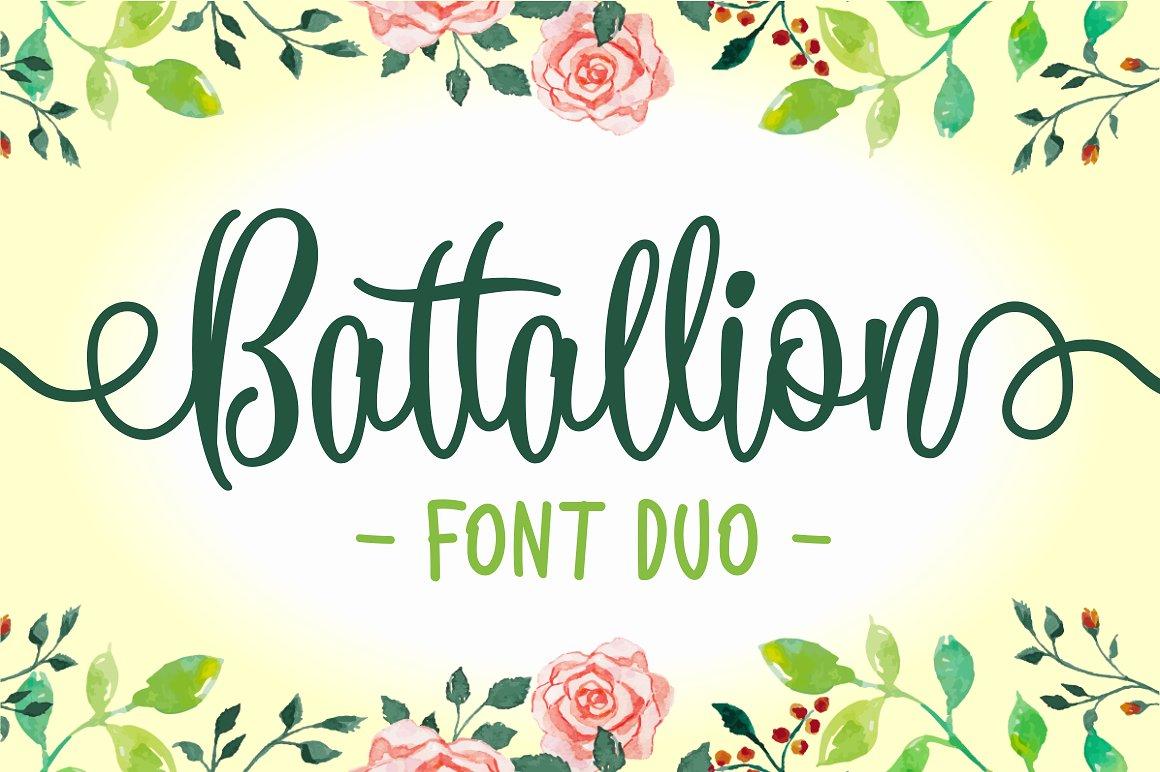 battallion-script-font