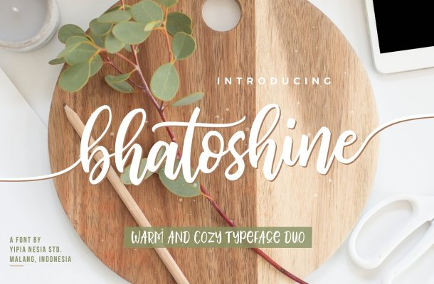 Bhatoshine Script Font