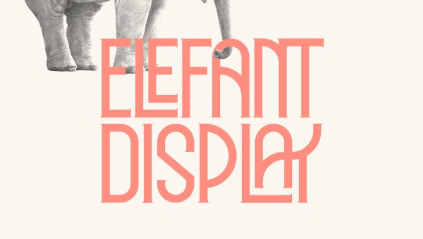 ELEFANT Display Font