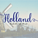 Holland Handwriting Font