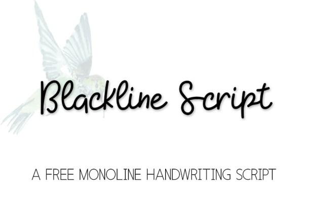 Blackline Script Free Font