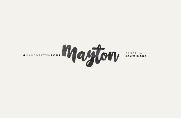 Mayton Brush Script Free Font