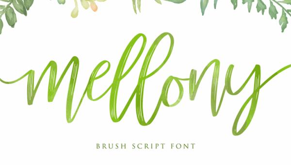 Mellony Brush Free Font