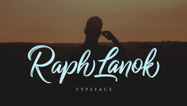 Raph Lanok Script Free Font