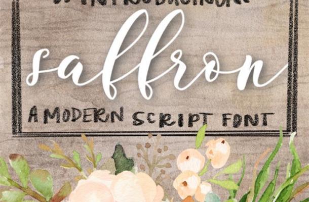 Saffron Script Free Font