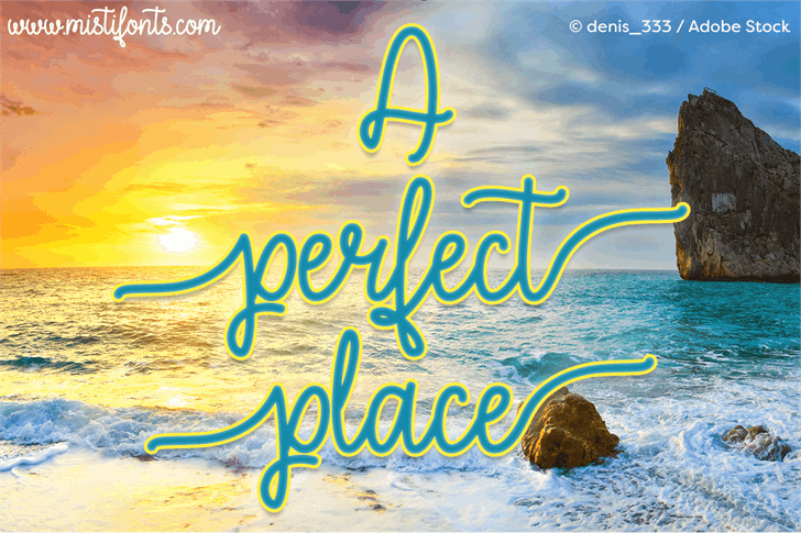 a-perfect-place-font