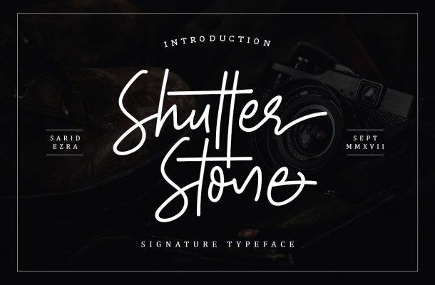 Shutter Stone Script Font