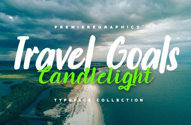 Travel Goals & Candlelight Script Font