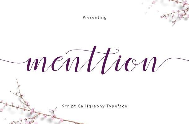 Menttion Script Font Free