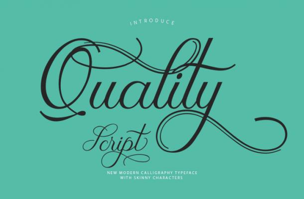 Quality Script Font