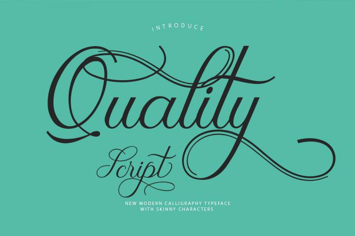 quality-script-font