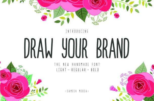 Draw Your Brand Font