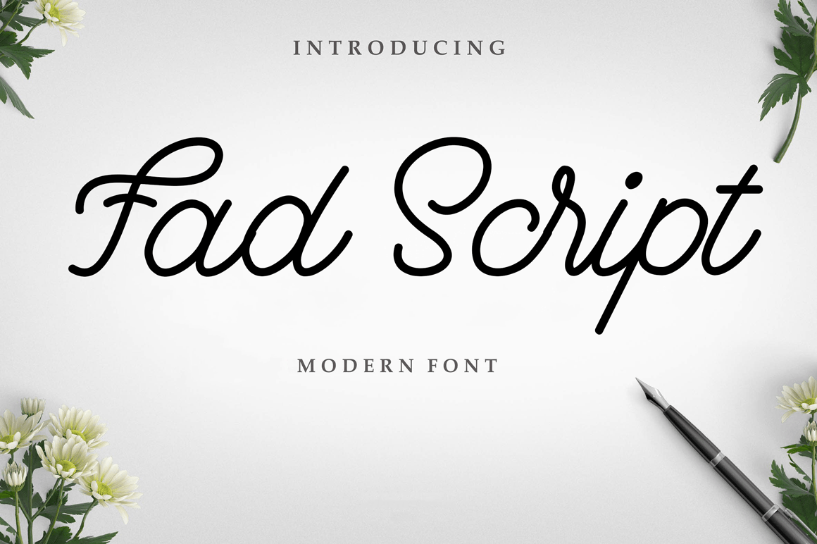 fad-script-font