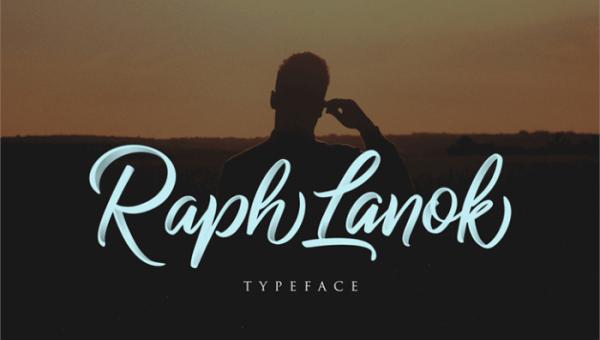 Raph Lanok Script Font