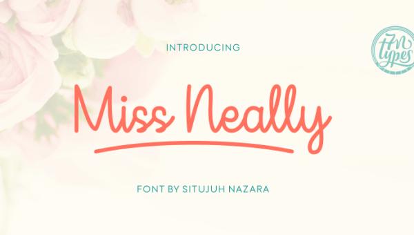 Miss Neally Script Font