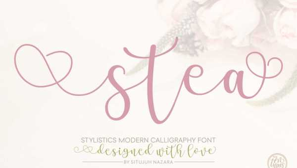 Stea Calligraphy Font