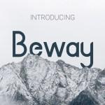 Beway Typeface Font