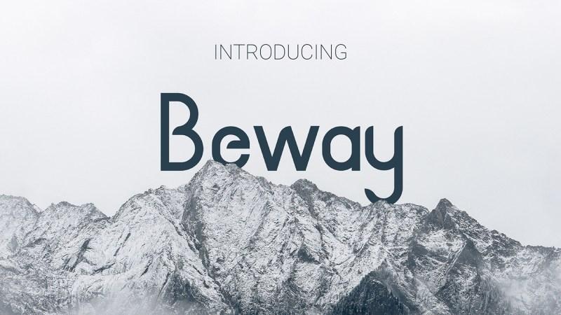 Beway-Typeface