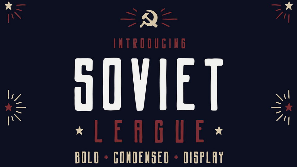 Soviet League Typeface
