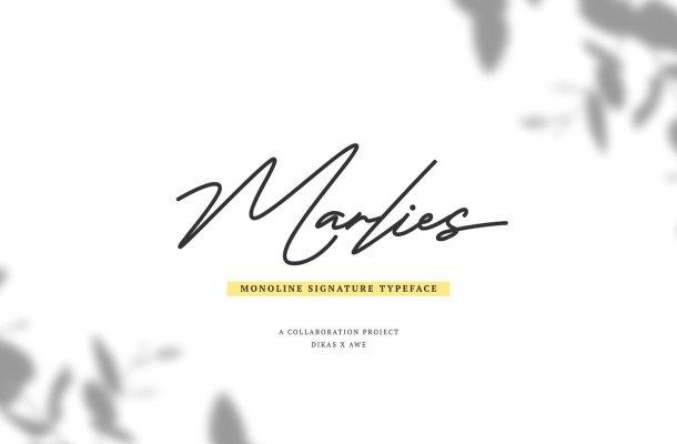 Marlies Signature Font