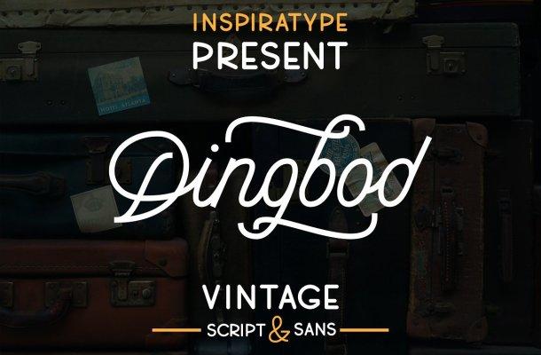 Dingbod Sript and Sans Font
