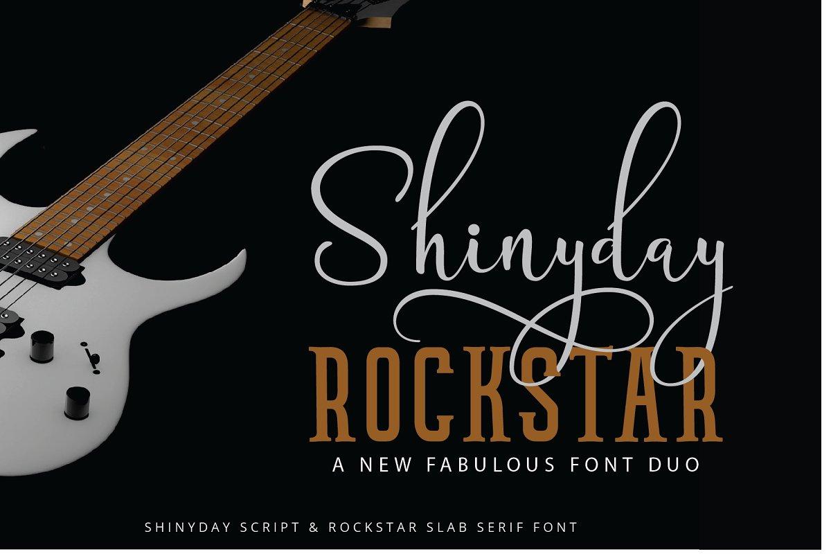 shinyday-rockstar-font-duo