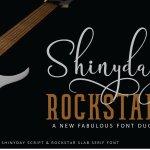 Shinyday & ROCKSTAR Font Duo